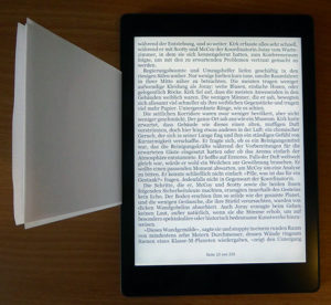 Spaltmaße des Kobo Aura One eBook-Readers